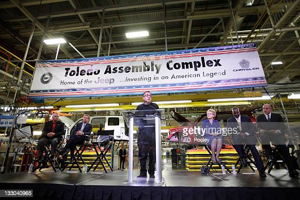 Chairman and Chief Executive Officer of Chrysler Group Sergio Marchionne speaks during a press conference announcing a $500 million investment in the...