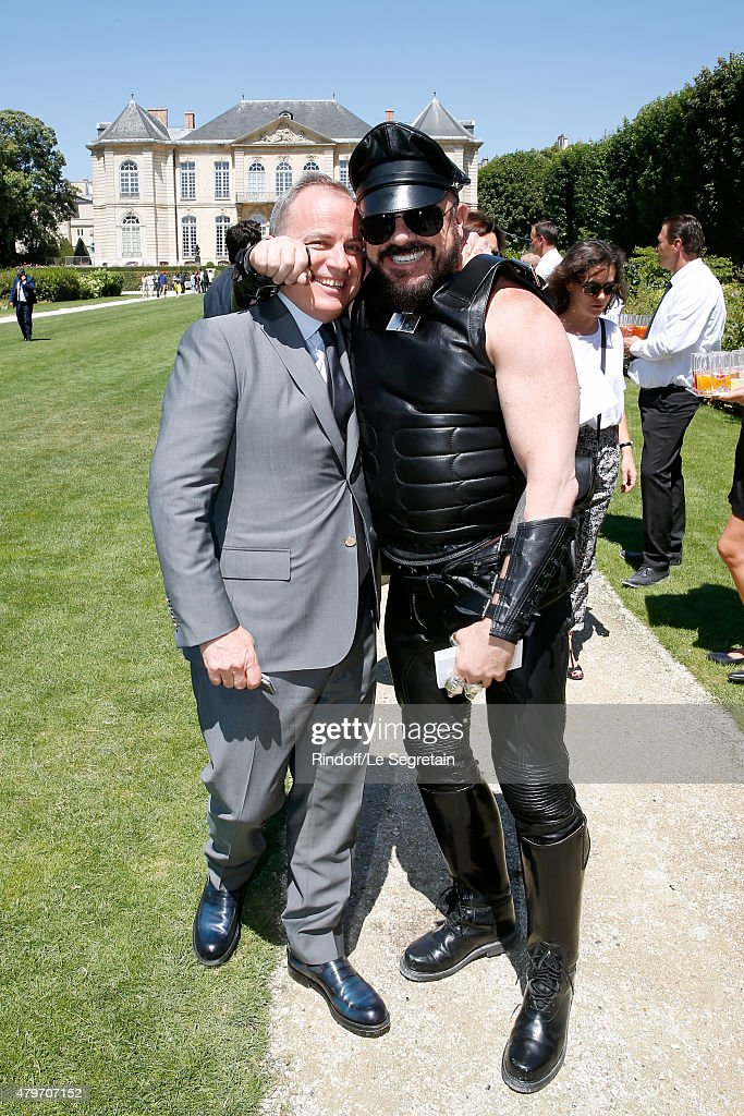 Chairman and Chief Executive Officer of Louis Vuitton, Michael Burke and Peter Marino attend the Christian Dior show as part of Paris Fashion Week Haute Couture Fall/Winter 2015/2016 on July 6, 2015 in Paris, France.