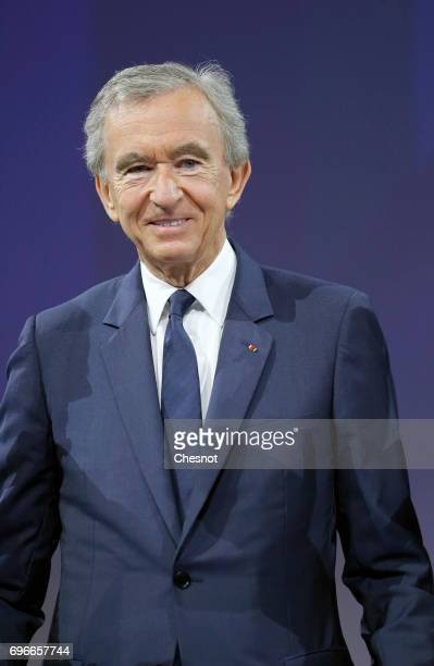 Chairman and chief executive officer of LVMH Moet Hennessy Louis Vuitton SE Bernard Arnault attends the Viva Technology show on June 16 2017 in Paris...