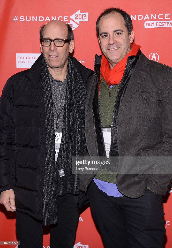 Chairman and Chief Executive Officer of Showtime Networks Inc. Matthew Blank and David Nevins, President of Entertainment of Showtime Networks Inc. arrive at the 'History of the Eagles Part 1' premiere and Q&A during the 2013 Sundance Film Festival at Eccles Theater on January 19, 2013 in Park City, Utah.