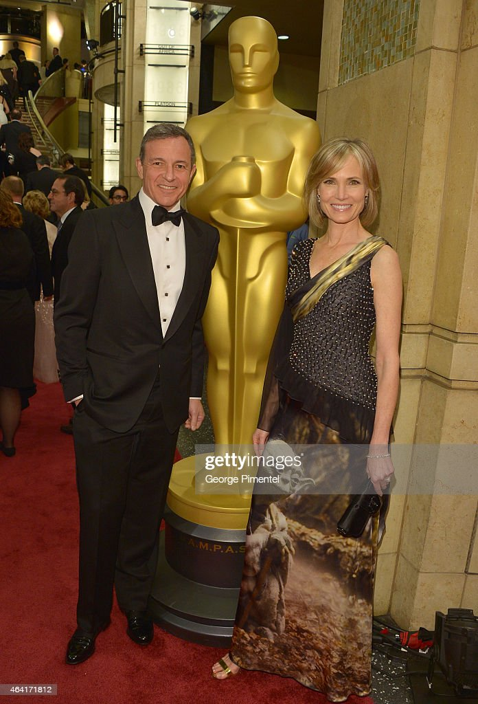Chairman and Chief Executive Officer of The Walt Disney Company Bob Iger and TV personality Willow Bay attend the 87th Annual Academy Awards at...