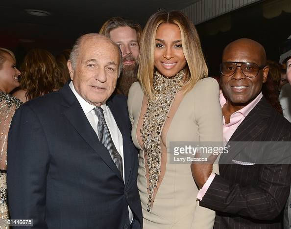 Chairman and Chief Executive Officer Sony Music Entertainment Doug Morris singer Ciara and Epic Records Chairman/CEO Antonio 'LA' Reid attends Sony...