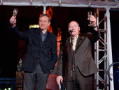 Chairman and Chief Executive Officer The Walt Disney Company Bob Iger and executive director John Lasseter speak onstage during the 90 Years of...