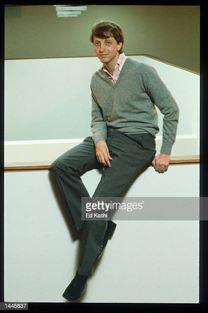 Chairman and Chief Software Architect of Microsoft Corporation Bill Gates poses July 1986 in Redmond WA Gates created Microsoft which is currently...