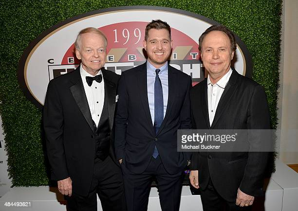 Chairman and Founder of Celebrity Fight Night Jimmy Walker honoree and singer Michael Buble and actor Billy Crystal attend Muhammad Ali's Celebrity...