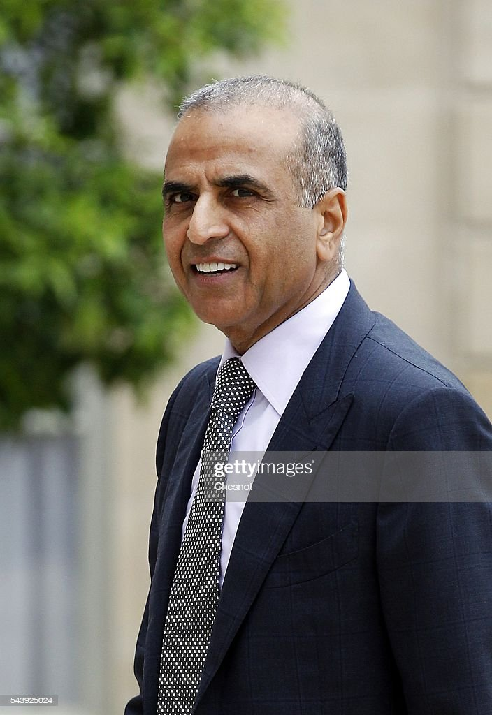 Chairman and Group CEO of Bharti Enterprises Sunil Bharti Mittal arrives at the Elysee Presidential Palace for a lunch with French President Francois Hollande and leaders of large groups of digital and manufacturers worldwide before the Viva Technology show on June 30, 2016 in Paris, France. Viva Technology Startup Connect, the new international event brings together 5,000 startups with top investors, companies to grow businesses and all players in the digital transformation who shape the future of the internet.