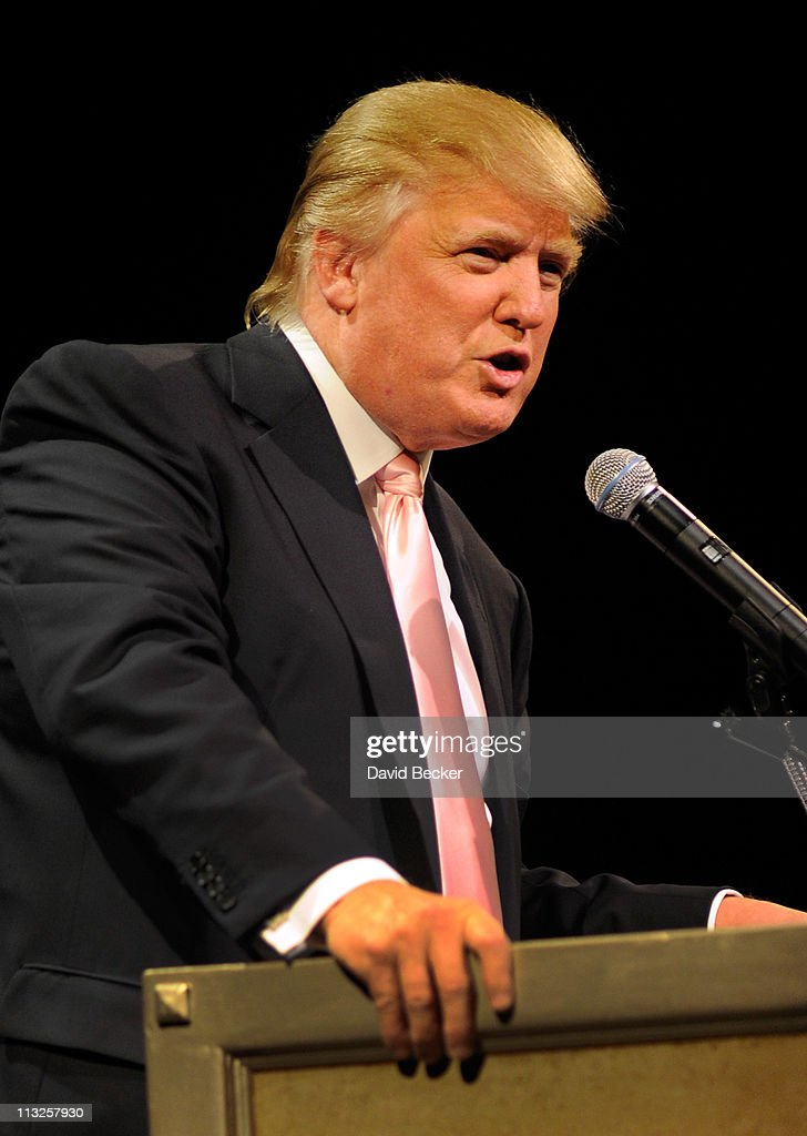 Chairman and President of the Trump Organization Donald Trump speaks to several GOP women's group at the Treasure Island Hotel & Casino April 28, 2011 in Las Vegas, Nevada. Trump has been testing the waters for a presidential run with stops across the nation in recent weeks.