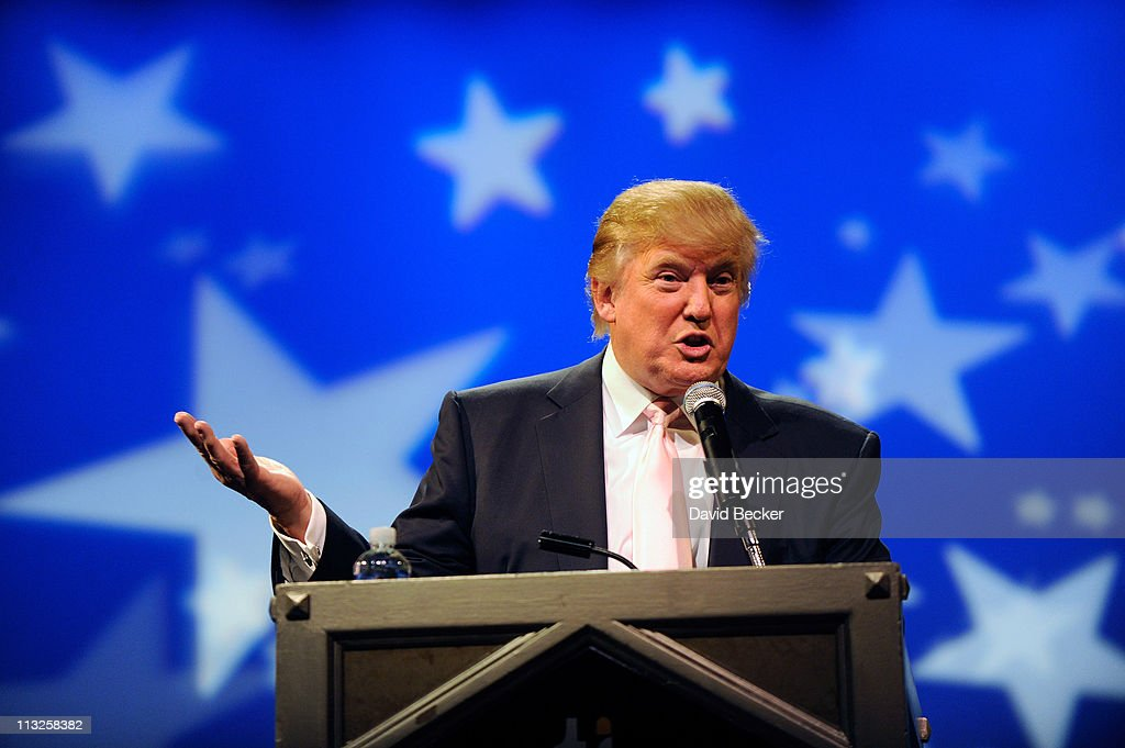 Chairman and President of the Trump Organization, Donald Trump, speaks to several GOP women's group at the Treasure Island Hotel & Casino April 28, 2011 in Las Vegas, Nevada. Trump has been testing the waters for a presidential run with stops across the nation in recent weeks.