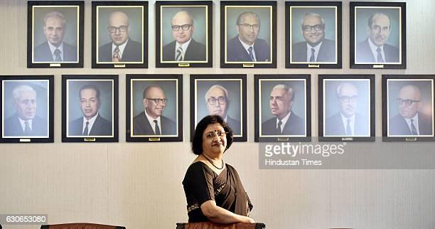 Chairman Arundhati Bhattacharya at SBI Office on December 29 2016 in Mumbai India