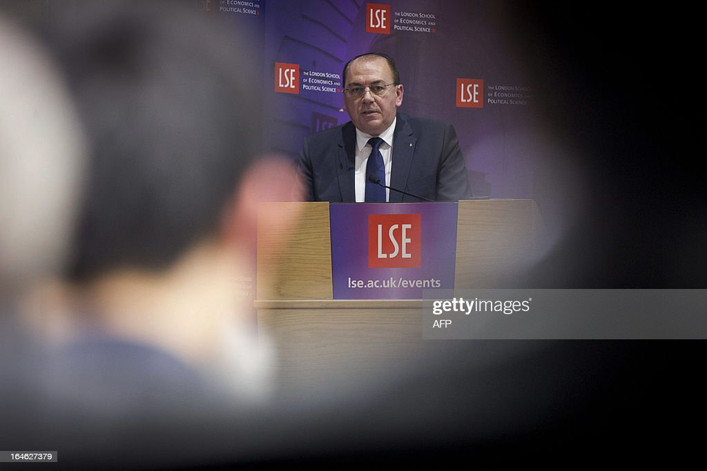 UBS chairman Axel Weber speaks during a financial and economic event discussing the financial crisis at the London School of Economics (LSE) in London on March 25, 2013. At the discussion which was attended by speakers including Bank of England governor Mervyn King, US Federal Reserve Chairman Ben Bernanke, UBS chairman Axel Weber and former US Treasury Secretary Lawrence Summers Bernanke rejected worries that the world's leading economies were competitively cutting their currency values.