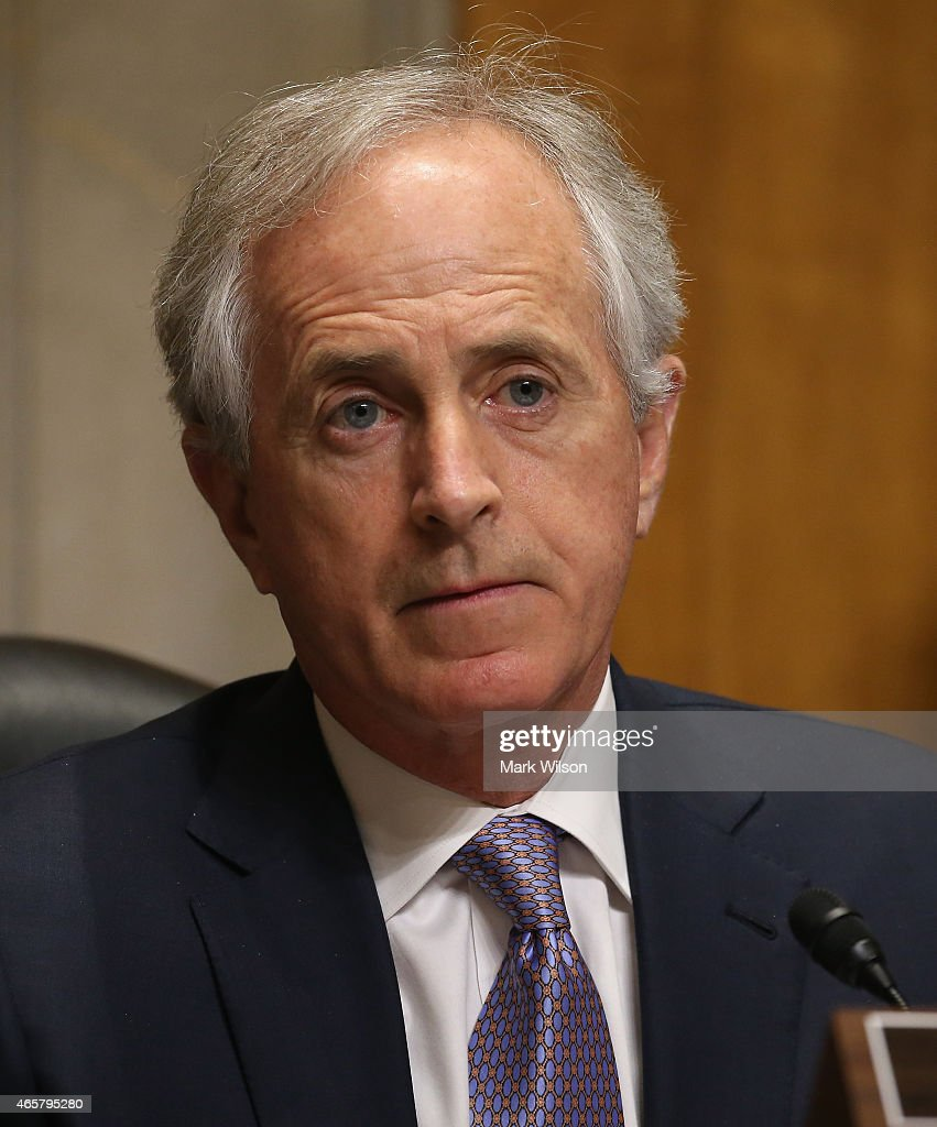 Chairman <a gi-track='captionPersonalityLinkClicked' href=/galleries/search?phrase=Bob+Corker&family=editorial&specificpeople=3986296 ng-click='$event.stopPropagation()'>Bob Corker</a> (R-TN) participates in a Senate Foreign relations Committee hearing on Capitol Hill, March 10, 2015 in Washington, DC. The committee was hearing from us government officials on the situation in Ukraine.