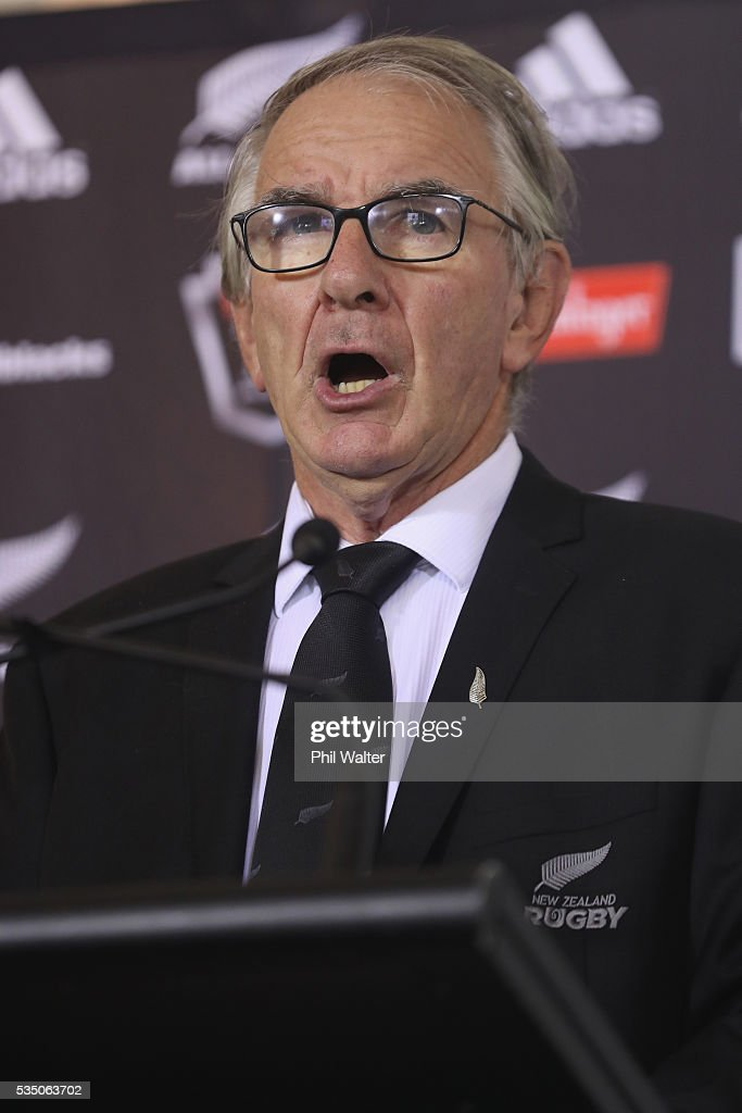 Chairman Brent Impey during the New Zealand All Blacks squad announcement at The Heritage Hotel on May 29, 2016 in Auckland, New Zealand.