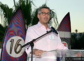 LA 2024 chairman Casey Wasserman speaks during the Toast to Team USA Send Off presented by Bridgestone event at The Paley Center for Media on July 22...