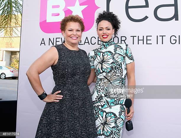 Chairman CEO Debra L Lee and singer Elle Varner attend the BET AWARDS '14 Debra Lee's PreDinner held at Milk Studios on June 28 2014 in Los Angeles...