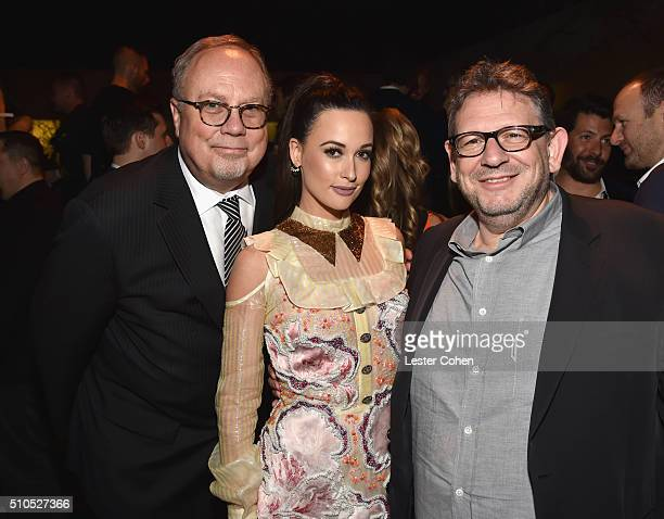 Chairman CEO Mike Dungan singersongwriter Kacey Musrgraves and CBE Chairman CEO UMG Lucian Grainge attend Universal Music Group 2016 Grammy After...