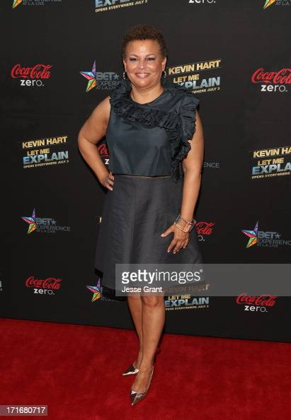 Chairman CEO of BET Networks Debra Lee attends Movie Premiere 'Let Me Explain' with Kevin Hart during the 2013 BET Experience at Regal Cinemas LA...