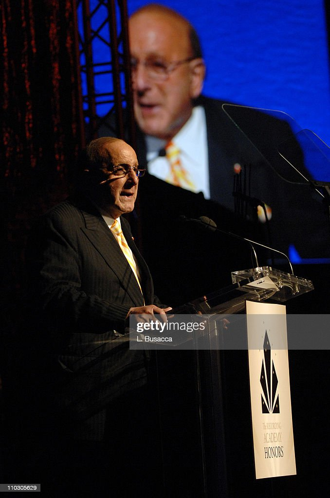 Chairman CEO of BMG Label Group Clive Davis presents musician Alicia Keys with her award during the Recording Academy New York Chapter's Tribute to...