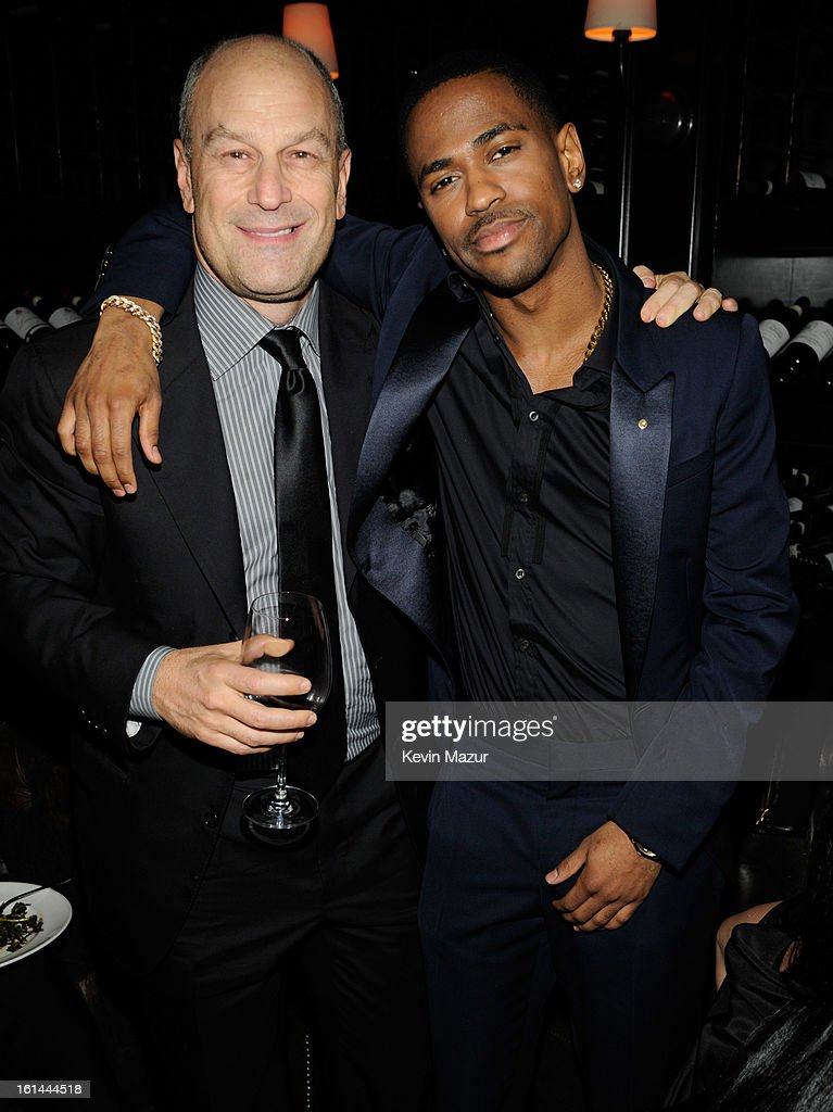 Chairman & CEO of Island Def Jam and Universal Motown Republic Group Barry Weiss and Big Sean attend the Island Def Jam Grammy Party Sponsored By Samsung And Pepsi at Osteria Mozza on February 10, 2013 in Los Angeles, California.