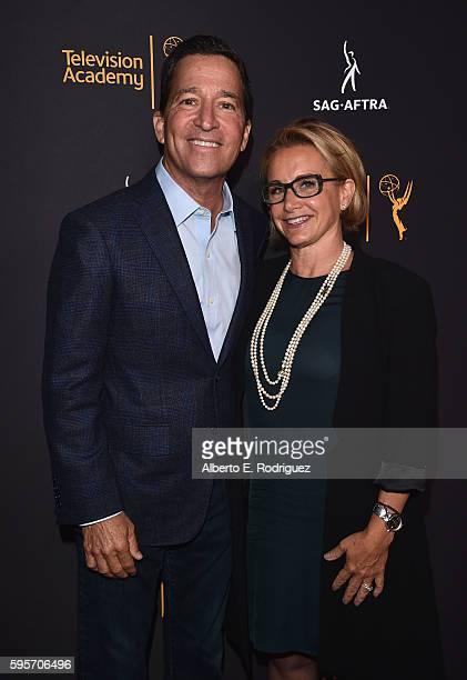 Chairman CEO of the Television Academy Bruce Rosenblum and SAGAFTRA President Gabrielle Carteris attend the Television Academy And SAGAFTRA's 4th...