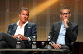 Chairman CEO Richard Plepler HBO Programming President Michael Lombardo speak onstage at the Executive Session panel during the HBO portion of the...