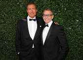 Chairman CEO Richard Plepler HBO Programming President Michael Lombardo attend the 66th Annual Primetime Emmy Awards held at the Nokia Theatre LA...