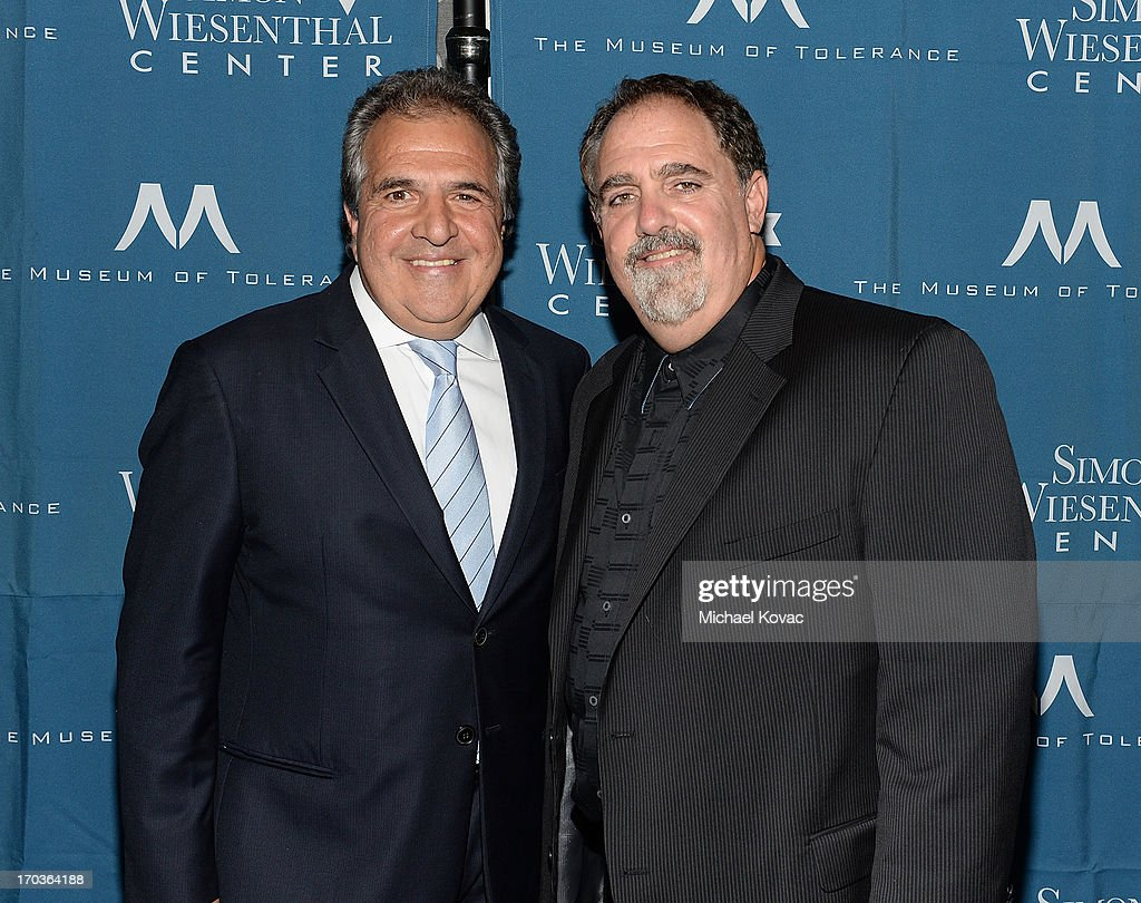 Chairman & Chief Executive Officer of Fox Filmed Entertainment Jim Gianopulos (L) and producer Jon Landau arrive at the Simon Wiesenthal Center National Tribute Dinner at Regent Beverly Wilshire Hotel on June 11, 2013 in Beverly Hills, California.