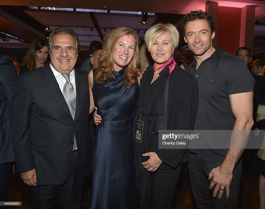 Chairman & Chief Executive Officer of Fox Filmed Entertainment Jim Gianopulos, Ann Gianopulos, Deborra-Lee Furness and Hugh Jackman attend 'Hugh Jackman... One Night Only' Benefiting MPTF at Dolby Theatre on October 12, 2013 in Hollywood, California.