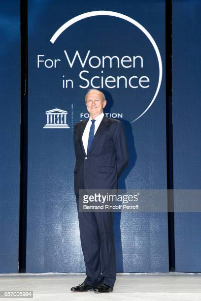 Chairman Chief Executive Officer of L'Oreal and Chairman of the L'Oreal Foundation JeanPaul Agon attends the '2017 L'Oreal UNESCO for Women in...