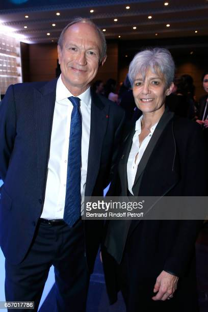 Chairman Chief Executive Officer of L'Oreal and Chairman of the L'Oreal Foundation JeanPaul Agon and Claudie Haignere attend the '2017 L'Oreal UNESCO...