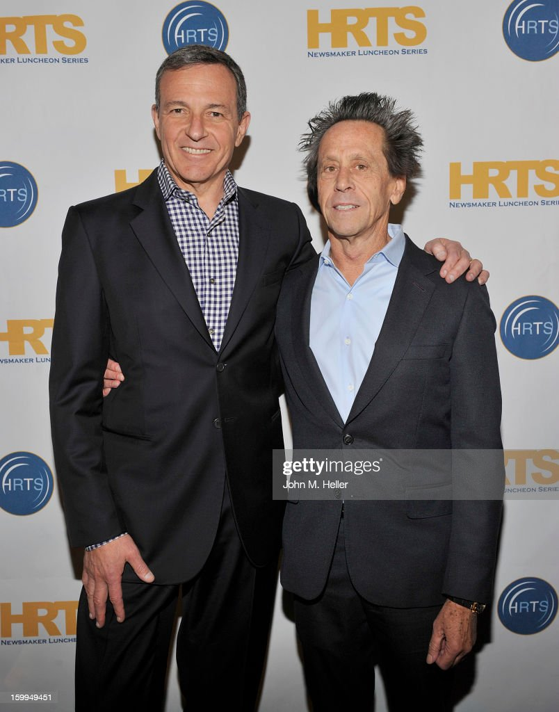 Chairman & Chief Executive Officer of the Walt Disney Company Robert A. Iger and Academy Award Winning Producer and Co-Chairman of Imagine Entertainment <a gi-track='captionPersonalityLinkClicked' href=/galleries/search?phrase=Brian+Grazer&family=editorial&specificpeople=203009 ng-click='$event.stopPropagation()'>Brian Grazer</a> attend the Hollywood Radio & Television Society Newsmaker Luncheon Series at The Beverly Hilton Hotel on January 23, 2013 in Beverly Hills, California.