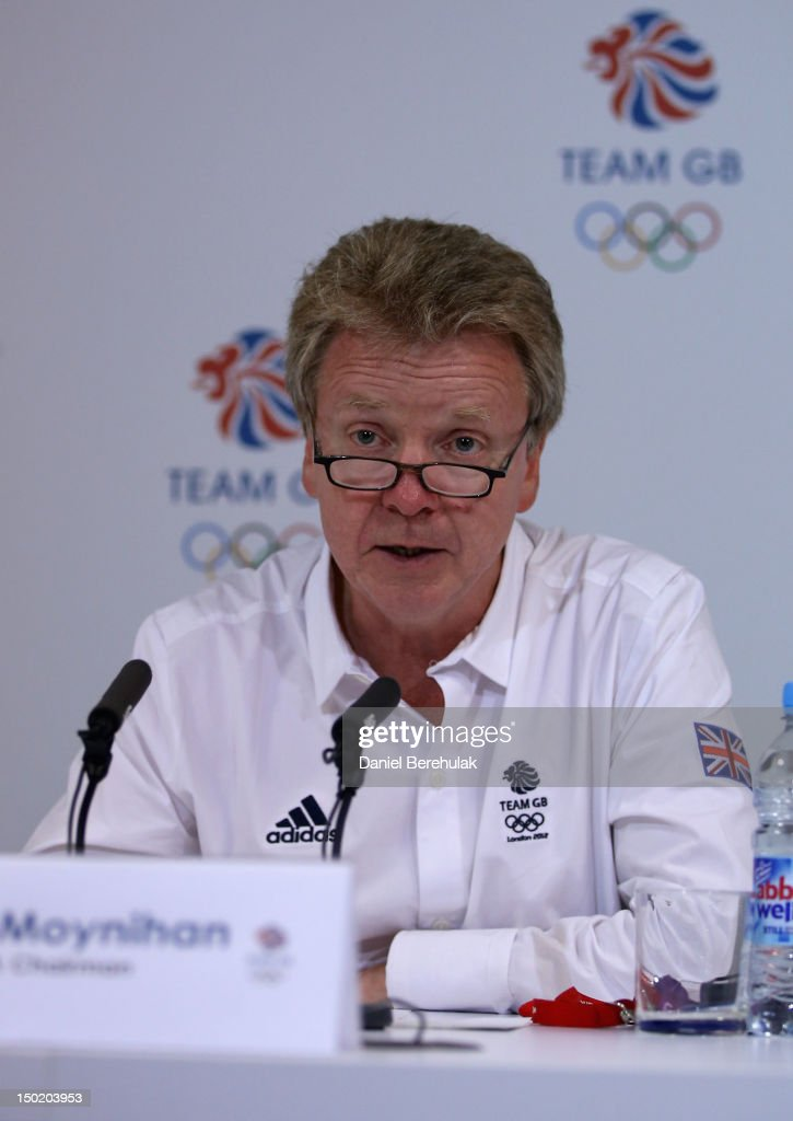 BOA chairman <a gi-track='captionPersonalityLinkClicked' href=/galleries/search?phrase=Colin+Moynihan&family=editorial&specificpeople=679310 ng-click='$event.stopPropagation()'>Colin Moynihan</a> attends a TEAM GB Press Conference during Day 16 of the London 2012 Olympic Games at Team GB house on August 12, 2012 in London, England.