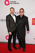Chairman David Furnish and Founder Sir Elton John attend the Elton John AIDS Foundation's 13th Annual An Enduring Vision Benefit at Cipriani Wall...