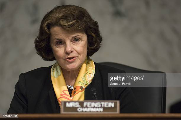 Chairman Dianne Feinstein DCalif during the Senate Select Intelligence confirmation hearing for Robert S Litt nominee to be general counsel of the...