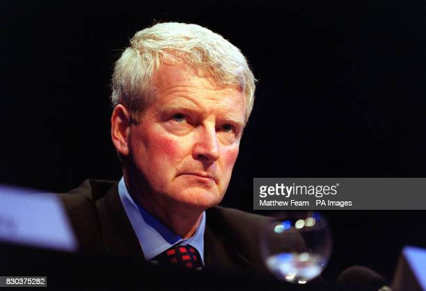 Chairman Don Cruickshank of a new company to be called 'iX' at a press conference in London where the London Stock Exchange and Deutsche Borse...