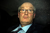 Chairman Douglas Flint leaves after attending a Treasury select committee hearing on February 25 2015 in London He appeared along with Chief...