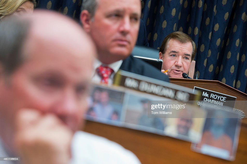 Chairman Ed Royce RCalif asks a question during a House Foreign Affairs Committee hearing in Rayburn Building titled 'Iran Nuclear Agreement The...