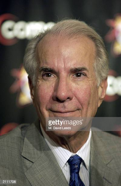 Chairman Ed Snider of the Philadelphia 76ers attends a news conference at First Union Center on June 20 2003 in Philadelphia Pennsylvania Randy Ayers...