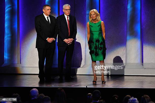 Chairman Friars Foundation Gift of Laughter for Wounded Warriors Program Leonard Wilf CoFounder CoCEO The Carlyle Group David Rubenstein and Jill...