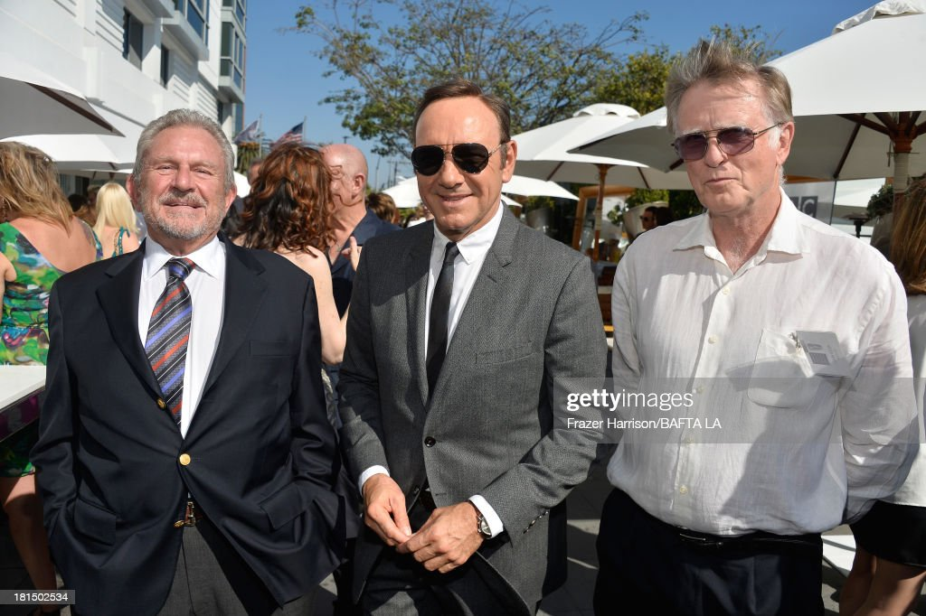 Chairman Gary Dartnall, actor <a gi-track='captionPersonalityLinkClicked' href=/galleries/search?phrase=Kevin+Spacey&family=editorial&specificpeople=202091 ng-click='$event.stopPropagation()'>Kevin Spacey</a> and BAFTA/ LA Co-Founder Peter Beale attend the BAFTA LA TV Tea 2013 presented by BBC America and Audi held at the SLS Hotel on September 21, 2013 in Beverly Hills, California.