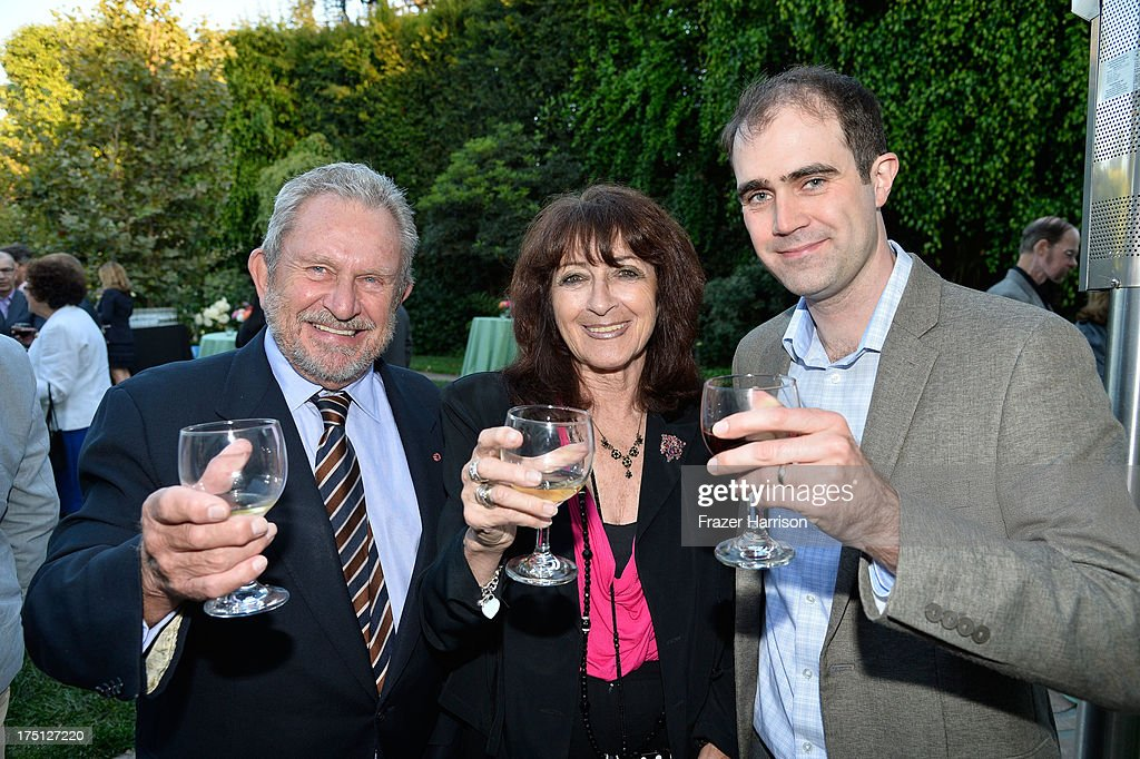 Chairman Gary Dartnall, BAFTA LA Katy Haber, BAFTA LA Matthew Wiseman attend a farewell Cocktail Reception For The British Consul-General Dame Barbara Hay on July 31, 2013 in Los Angeles, California.