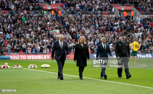 FA Chairman Greg Clarke Secretary of State for Culture Media and Sport Karen Bradley The Mayor of London Sadiq Khan and Acting Metropolitan Police...