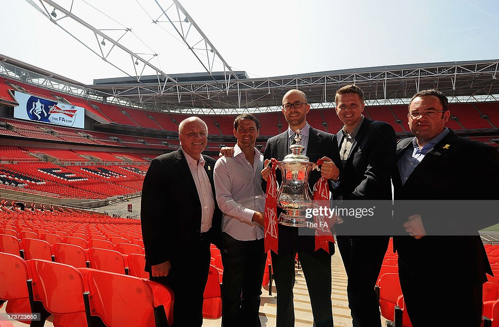 FA Chairman Greg Dyke Michael Owen Managing Director of BT Retail's consumer division John Petter Jake Humphrey and the FA General Secretary Alex...