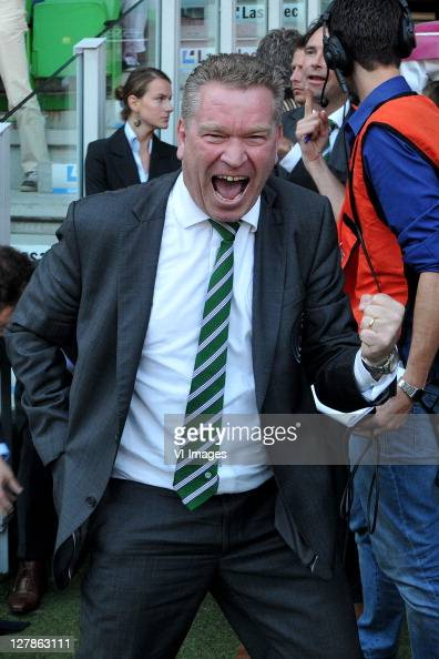 Chairman Hans Nijland of FC Groningen during the Eredivisie match between FC Groningen and Ajax at the Euroborg stadium on October 2 2011 in...
