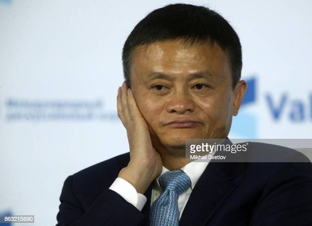 Chairman Jack Ma of the Alibaba Group attends a meeting with the Valdai Discussion Club members in Sochi Russia October 2017 Photo by Mikhail...