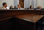 Chairman John Thune Sen Bill Nelson Sen Maria Cantwell and Sen Claire Mccaskill participate in a Senate Commerce Science and Transportation Committee...