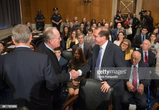 Chairman Lamar Alexander and Alex Michael Azar II attends full committee hearing on the nomination of Alex Michael Azar II to be Health and Human...