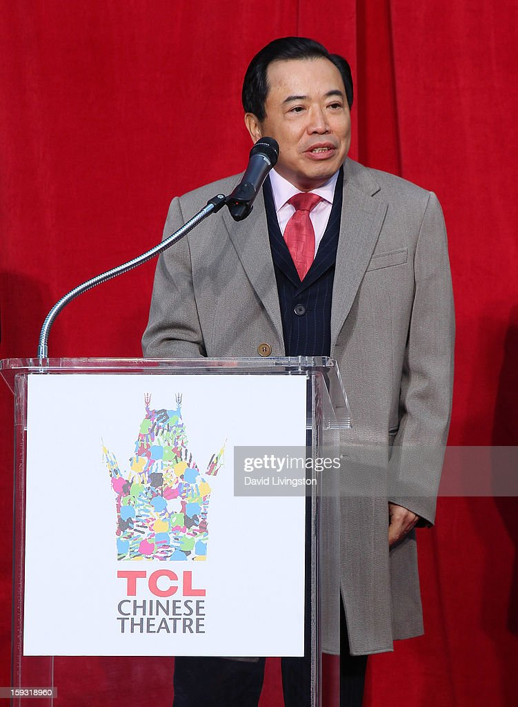 Chairman Li Dongsheng attends the renaming of Grauman's Chinese Theatre to the TCL Chinese Theatre at the Chinese Theatre on January 11, 2013 in Hollywood, California.