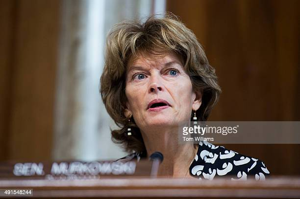 Chairman Lisa Murkowski RAlaska speaks during a Senate Energy and Natural Resources Committee hearing in Dirksen Building on the 'modernization of...