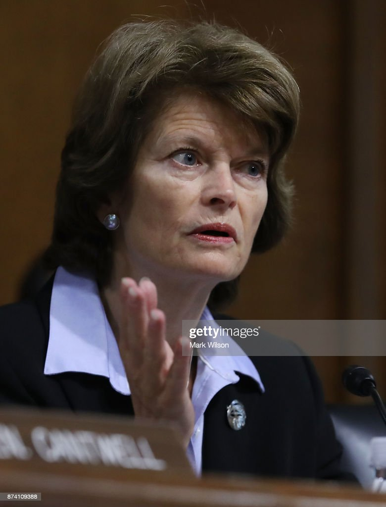 Chairman Lisa Murkowski (R-AK) speaks during a Senate Energy and Natural Resources Committee hearing on hurricane recovery efforts in Puerto Rico and the US Virgin Islands, on Capitol Hill November 14, 2017 in Washington, DC.