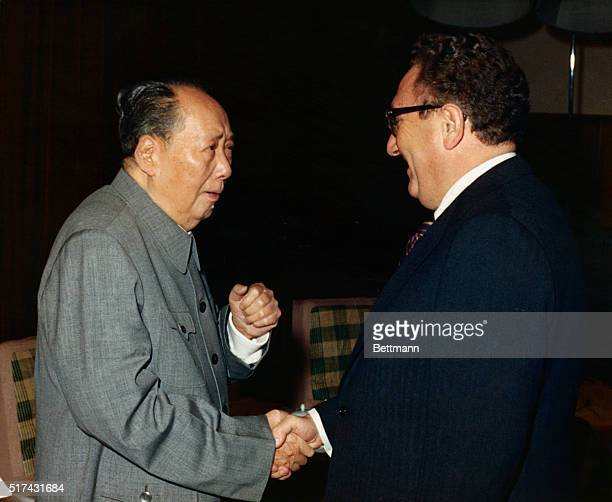 Chairman Mao Tsetung met on October 21 evening with Dr Henry A Kissinger US Secretary of State and Assistant to the President for National Security...